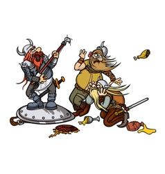 Viking music vector image