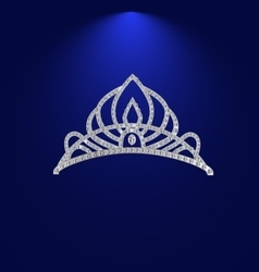 Tiara with precious stones 2 vector