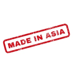 Made in asia rubber stamp vector