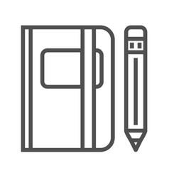 sketchbook line icon vector image