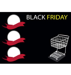 Shopping cart on black friday background vector