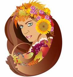 autumn goddess vector image