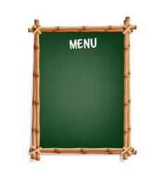 Menu board cafe or restaurant menu bulletin black vector