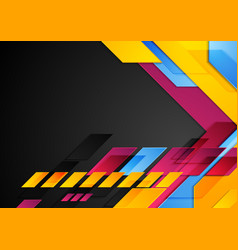 colorful technology corporate abstract background vector image