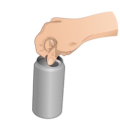 Hand With Can vector image