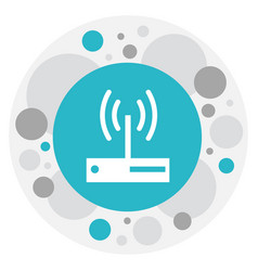 Of web symbol on router icon vector