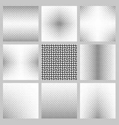 Black and white ellipse pattern background set vector