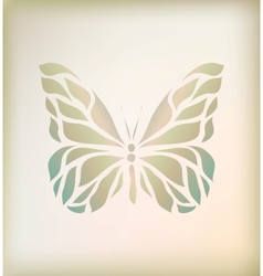 Vintage floral butterfly background vector