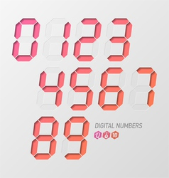 Digital numbers set vector