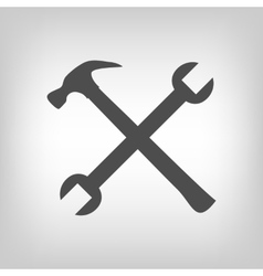 Crossed tools vector image