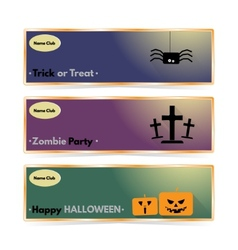 Website spooky header or banner set with halloween vector