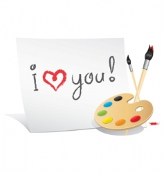 Valentine card of the artist vector