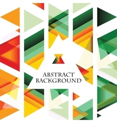 Abstract colorful triangle background vector