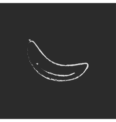 Banana icon drawn in chalk vector