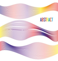 Abstract colorful lines beautiful modern vector
