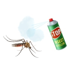 Anti mosquito spray vector image