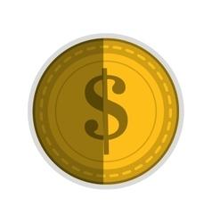Dollar sign coin icon vector