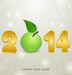 Apple christmas backgorund 2014 vector