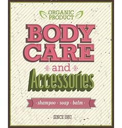 Body care vector