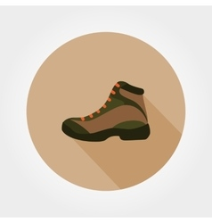 Boot Icon Flat vector image vector image