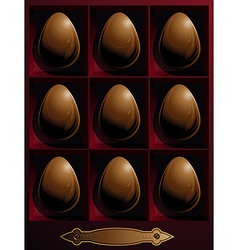 box with chocolate Easter eggs vector image
