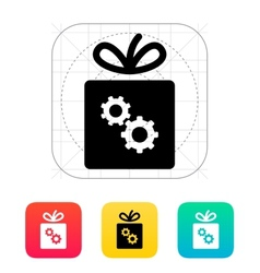 Box with gear icon vector image vector image