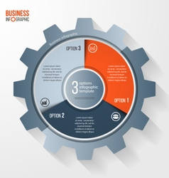 business and industry gear style circle infographi vector image vector image