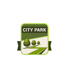 City park nature and eco green trees icon vector