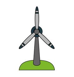 Color image cartoon wind turbine eolic energy vector