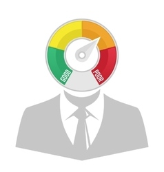 Credit counter silhouette of a man vector