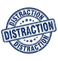 Distraction blue grunge stamp vector