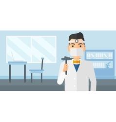 Ear nose throat doctor vector