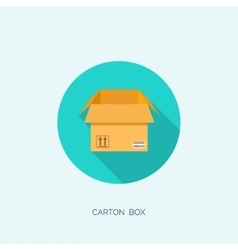 Flat carton box Transport vector image vector image