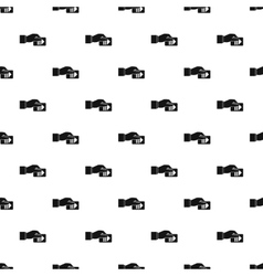 Hand pays for parking pattern simple style vector