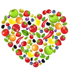 heart from vegetables vector image