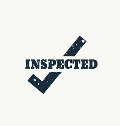 Inspected stamp vector