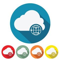 internet cloud web design vector image vector image
