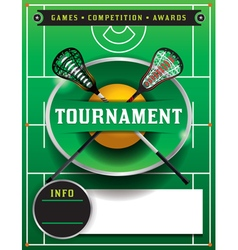 Lacrosse tournament blank flyer template vector