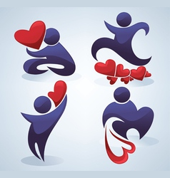 love people - symbols and icons vector image vector image
