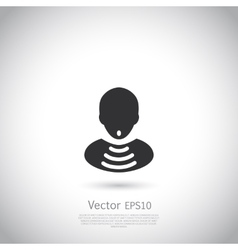 Man with wifi symbol insite body vector