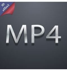 Mpeg4 video format icon symbol 3d style trendy vector