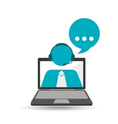 online call center assistance customers vector image