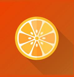 Orange flat orange vector
