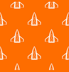 Rocket pattern seamless vector