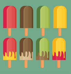 Set of colorful ice-cream vector