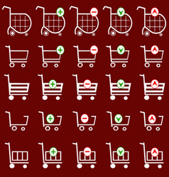 Shopping basket set - online shopping cart vector