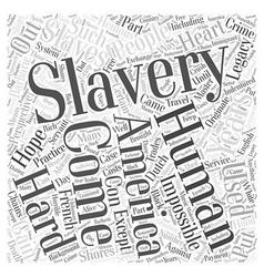 Slavery word cloud concept vector