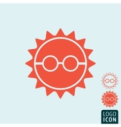 Sun icon isolated vector image vector image