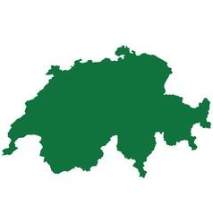 Switzerland map vector