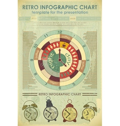 Time infographics retro vector
